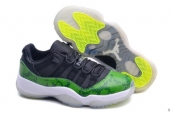 Perfect Women Air Jordan 11 Low Green Snakeskin 200