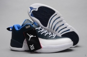 AAA Air Jordan 12 Low Navy Blue White