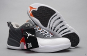 AAA Air Jordan 12 Low Grey White Orange