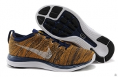 Nike Flyknit Lunar One Yellow Navy Blue White