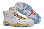 AAA Air Jordan 6 White Golden