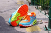 Air Max 90 Prm Tape Women Blue Yellow Green White Silvery