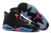 Perfect Air Jordan 6 Women Black Colourful 200