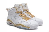 Perfect Air Jordan 6 Women White Golden 200
