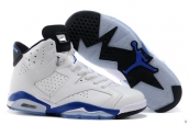 Perfect Air Jordan 6 Women White Sport Blue 200