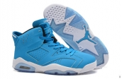 AAA Air Jordan 6 Blue White