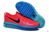 Nike Flyknit Air Max Leather Red Blue Black