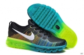 Nike Flyknit Air Max Leather Black Green Jade Green White
