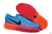 Nike Flyknit Air Max Leather Blue Orange Black