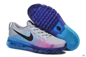 Nike Flyknit Air Max Leather Grey Blue Purple Black