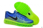 Nike Flyknit Air Max Leather Navy Blue Green Black