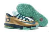 Nike KD VI Golden Silvery Navy Teal