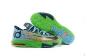 Kevin Durant KD VI Green Black Red Blue