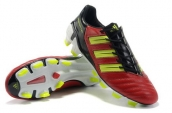 Adidas Predator XI TRX FG Cleats Red Fluorescent Green Black