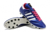Adidas Copa Mundial Firm Ground TPU Soccer Shoes Navy Blue White Pink