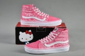Women High Vans X Hello Kitty Pink