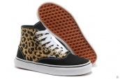 Vans Women High Leopard Black