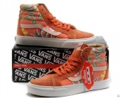 Women Vans High Printing Orange