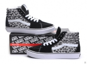 AAA Women Vans High Leopard Black Grey White