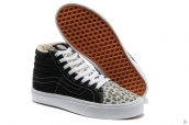 Women Vans High Down Leopard Black