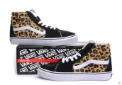 AAA Vans High Leopard Black Yellow White