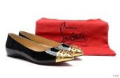 Christian Louboutin Flats Black Golden