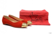 Christian Louboutin Flats Red Golden