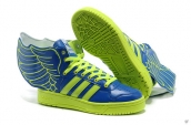 AAA Adidas Jeremy Scott Wings Blue Green