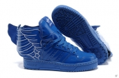 AAA Adidas Jeremy Scott Wings Leather Blue White