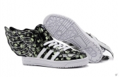 Adidas Jeremy Scott Wings Skull Black Green White