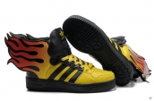 AAA Adidas Jeremy Scott Fire Wings Yellow Black