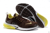 Nike Air Presto Suede Women Brown Yellow