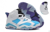 AAA Air Jordan 6 Women White Blue Purple