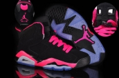 Air Jordan 6 Women Black Pink