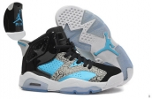 AAA Air Jordan 6 Women Blue Grey Black White