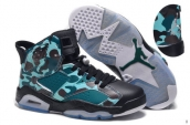 AAA Air Jordan 6 Women Camo Army Green Black