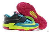 Nike KD VII Carnival Light Blue Yellow Pink Black