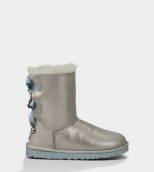 Women Winter Boot 1004140 AAA Swarovski Paillette Grey
