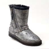 Mens Winter Boot 1003266 AAA Silvery