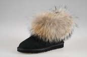 Women Winter Boot 5854 AAA Foxfeather Black