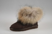 Women Winter Boot 5854 AAA Foxfeather Chocolate