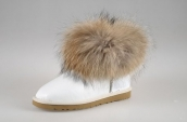 Women Winter Boot 5854 AAA Foxfeather Leather White
