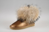 Women Winter Boot 5854 AAA Foxfeather Leather Golden