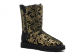 Women Winter Boot 1002195 AAA Black Golden