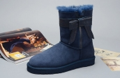 Women Winter Boot 1003174 AAA Navy Blue