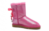 Women Winter Boot 1004140 AAA Swarovski Paillette Pink