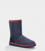 Women Winter Boot 1005080 AAA Navy Blue Red