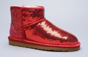 Women Winter Boot 1005854 AAA Paillette Red