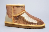 Women Winter Boot 1005854 AAA Paillette Golden