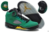 AAA Air Jordan 5 Oregon Ducks Green Black Yellow